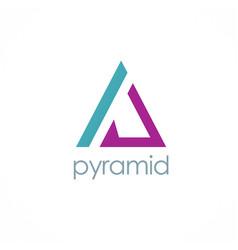 Triangle pyramid company logo vector
