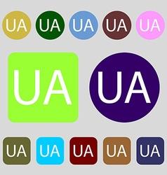 Ukraine sign icon symbol UA navigation 12 colored vector