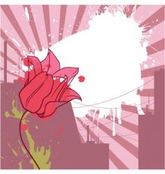 urban tulip vector image vector image