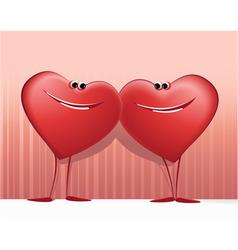 Valentines happy hearts vector image
