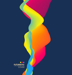 wavy background banner flyer book cover design vector image
