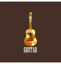 with diamond guitar icon vector image