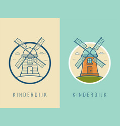 world landmarks holland travel and tourism vector image