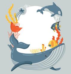 world ocean day frame vector image