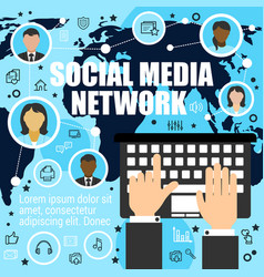 worldwide socializing means media network vector image