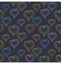 Abstract Hearts on a dark background vector image vector image