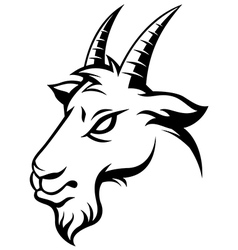 angry goat black vector image