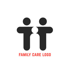 black simple family care logo vector image