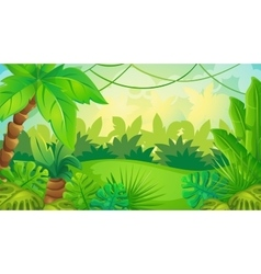 Cartoon Jungle Game Background vector image vector image