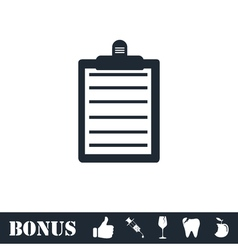 Contract icon flat vector image