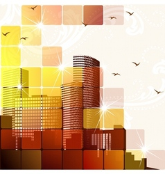 dynamic cityscape in brown vector image vector image