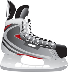 ice hockey skate vector image vector image