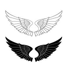 stylized wings vector image vector image