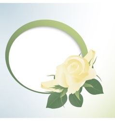 Template card with yellow roses vector image vector image