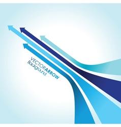 blue arrow strips vector image vector image