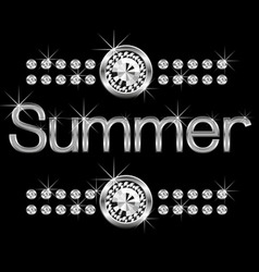 vector thin metal diamond word summer big and smal vector image vector image