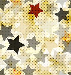 vintage star seamless vector image vector image
