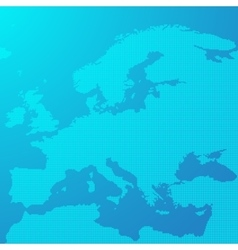 Blue map of Europe in the dots vector image