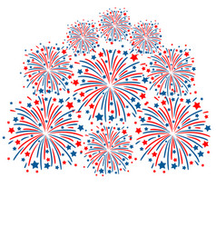 firework white background vector image