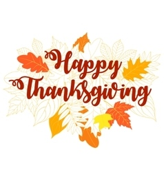 Happy Thanksgiving Day 5 vector image vector image