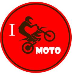 i like motorcycle vector image