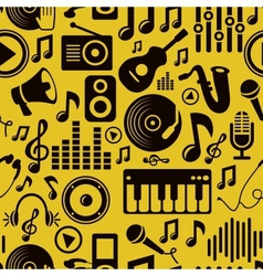music seamless pattern with icons vector image vector image