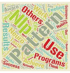 NLP Your Pathway to Personal Success text vector image