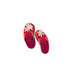 red women sleepers decorated with flowers isolated vector image vector image