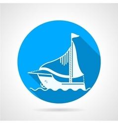 Sea yacht round icon vector image vector image