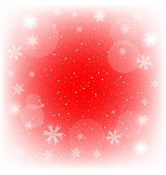 glowing red christmas background vector image vector image