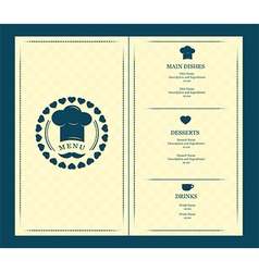 menu cover template vector image
