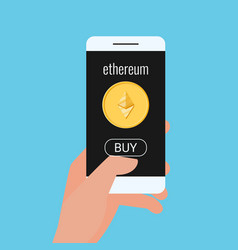 virtual business digital ethereum cryptocurrency vector image