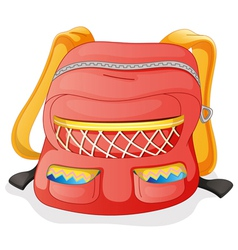 a red school bag vector image