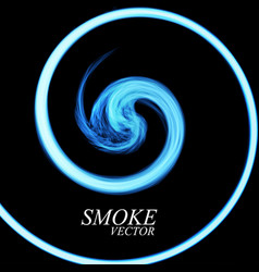 abstract colorful smoke by spiral isolated vector image