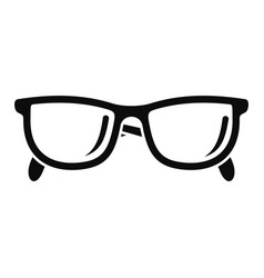 Accounting glasses icon simple style vector