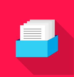 Archive icon flat single education icon from vector