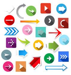 arrow icons set vector image