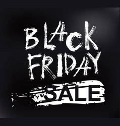 black friday sale handmade lettering vector image