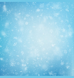 blue christmas snowflakes background eps 10 vector image