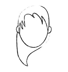 blurred silhouette caricature faceless front view vector image