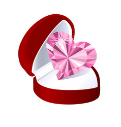 Box for jewelry with a heart vector