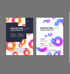 Brochure template for business modern journal vector
