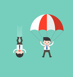 businessman free fall from sky and businessman vector image
