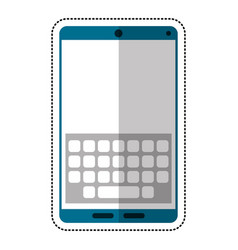 cartoon smartphone keypad display icon vector image