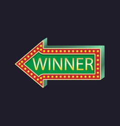 Casino party pointer left winner vector