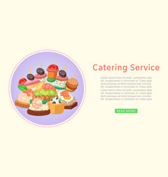 catering service restaurant food delivery vector image