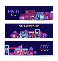 City banner horizontal vector image