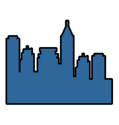 city buildings silhouette vector image