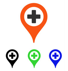 Clinic pointer flat icon vector