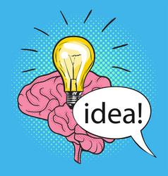 concept of new idea vector image